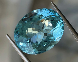 10.17 ct Blue Aquamarine with Excellent Luster and Fine Cutting Gemstone