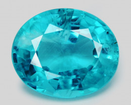 Neon Blue Apatite 2.20 Cts Unheated Natural Loose Gemstone