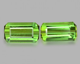 *NoReserve*Tourmaline 3.30 Cts 2 Pcs Natural Green Gemstone