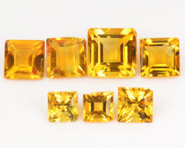 Citrine 2.03 Cts 7 Pcs Fancy Golden Yellow Color Natural Gemstone