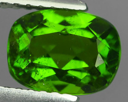 1.40 Cts MARVELOUS RARE OVAL NATURAL TOP GREEN- CHROME DIOPSIDE