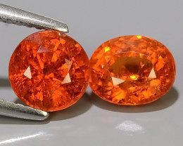 3.95 CTS MARVELOUS RARE NATURAL TOP FANTA-SPESSARTITE DAZZLING!