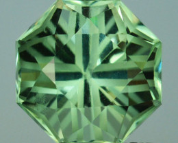 ~CUSTOM CUT~ 6.57 Cts Natural Green Prasiolite / Amethyst Hexagon  Fancy Br