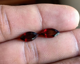 Garnet Gemstone Pair 100% Natural Gemstones VA4385