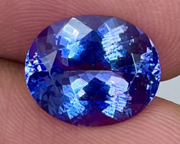 4.75 CT AAA Excellent Cut Rare Violet Blue Tanzanite - TNS04