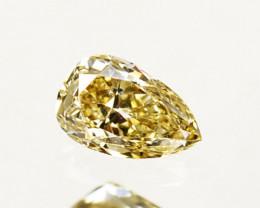 Outstanding!!! 0.16Cts Natural Untreated Diamond Fancy Yellow Pear Cut Afri