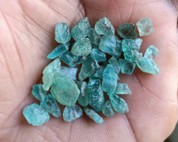 50 Ct Natural Apatite Rough Gemstone Wholesale Parcel VA4423