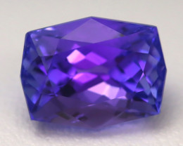 3.66Ct Natural Vivid Blue Tanzanite IF Flawless Octagon Master Cut A0307