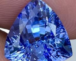$1200 4.29CT 11X11MM AAA Excellent Cut Rare Violet Blue Tanzanite - TNS18