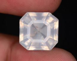 Rare Peach Pink 11.90 ct Feldspar Moonstone~Asscher Cut