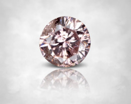 NO RESERVE ! ARGYLE 0.08 ct. Natural Pink Diamond Round 2.6mm