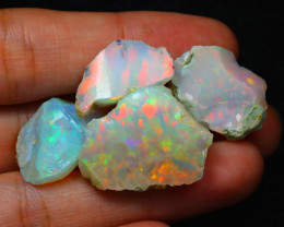 Welo Rough 36.22Ct Natural Ethiopian Play Of Color Rough Opal C0310