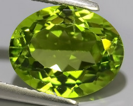 3.75CTS FINE JEWELRY NICE GREEN PERIDOT EXCELLENT GEMSTONE