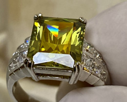 MYSTIC TOPAZ RING WITH  ZIRKON  , FROM COLLECTOR- UNUSED!