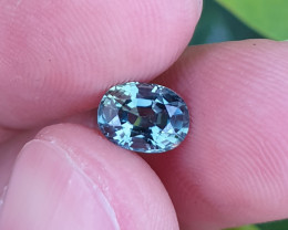 UNHEATED CERTIFIED 1.47 CTS TOP QUALITY GREEN BLUE SAPPHIRE MADAGASCAR
