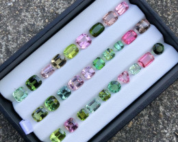 47 ct Attractive Colors Tourmaline All Custom cut Parcel