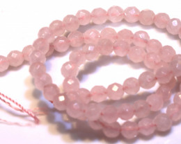 96.9  CTS  ROSE QUARTZ DRILLED FACETED BEADS NP-2731