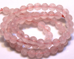 96.9  CTS  ROSE QUARTZ DRILLED FACETED BEADS NP-2737