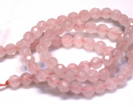 96.9  CTS  ROSE QUARTZ DRILLED FACETED BEADS NP-2747