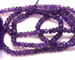 23 CTS AMETHYST DRILLED FACETED BEAD STRAND  NP-2748