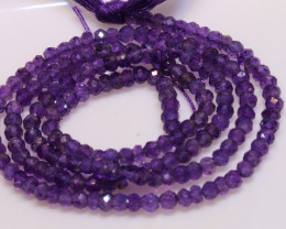23 CTS AMETHYST DRILLED FACETED BEAD STRAND  NP-2755
