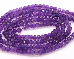 23 CTS AMETHYST DRILLED FACETED BEAD STRAND  NP-2762