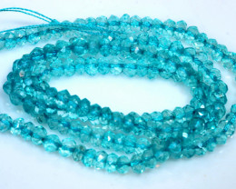 29.5 CTS BLUE TOPAZ FACETED DRILLED BEADS NP-2766