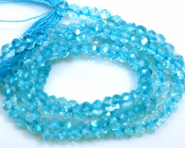 29.5 CTS BLUE TOPAZ FACETED DRILLED BEADS NP-2772