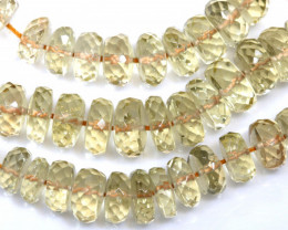 149.45 CTS SUNSTONE DRILLED FACETED BEADS NP-2773