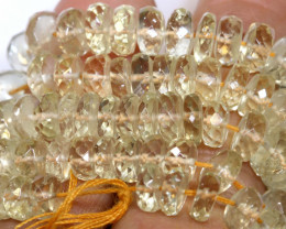 139 CTS SUNSTONE DRILLED FACETED BEADS NP-2775