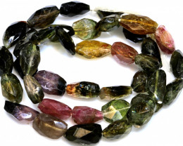 107.6 CTS TOURMALINE DRILLED FACETED BEADS NP-2781