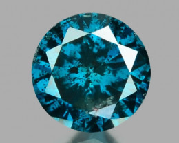 Diamond 0.13 Cts Sparkling Rare Fancy Blue Color Natural