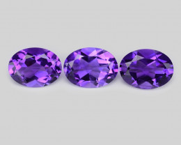 Fancy Gemstone 3.33 Cts 3 Pcs Fancy Purple Color Natural