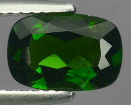 1.55 CTS NATURAL UNHEATED  GREEN CHROME DIOPSIDE CUSHION EXCELLENT~