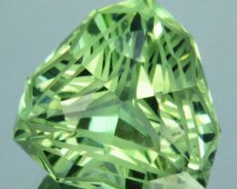 ~CUSTOM CUT~ 9.57 Cts Natural Prasiolite / Amethyst Fancy Trillion Brazil