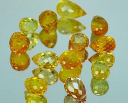 5.28Ct Natural Yellow Sapphire  Briolette Parcel