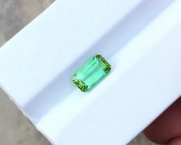 1.90 Ct Natural Greenish Blue Transparent Tourmaline Gemstone