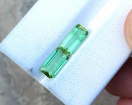 2.70 Ct Natural Greenish Transparent Tourmaline Gemstones Pairs