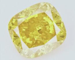 0.51 cts , fancy Color Diamond , Fancy Cut Diamond