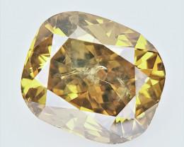 0.55 cts , fancy Color Diamond , Fancy Cut Diamond