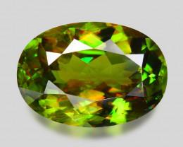 4.39 Ct Chrome Sphene Exceptional Color Pakistan Sph3