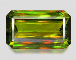 12.59 Ct Chrome Sphene Exceptional Color Pakistan Sph6