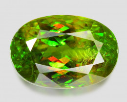 4.12 Ct Chrome Sphene Exceptional Color Pakistan Sph8