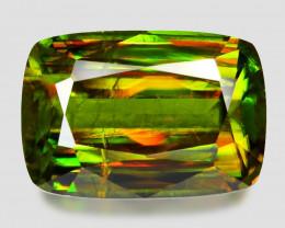 3.72 Ct Chrome Sphene Exceptional Color Pakistan Sph9