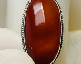 CARNELIAN- SILVER  PENDANT OLD WORK LIKE NEW  - COLLECTION!