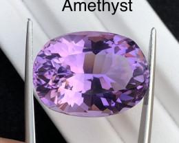 Top Grade Big Size 32.25 ct Purple Amethyst Ring Size