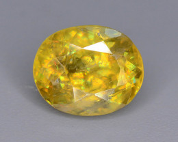 Sparkle 2.10 cts Dashing Fire Sphene Ring Size