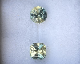 1tcw parcel of untreated yellow-blue partisapphire