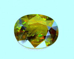 2.87Carat full fire Chrome Color Change Sphene cut Gemstone@Pakistan