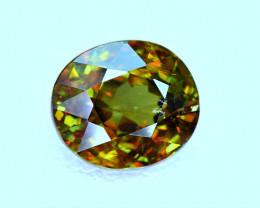 3.91Carat full fire Chrome Color Change Sphene cut Gemstone@Pakistan